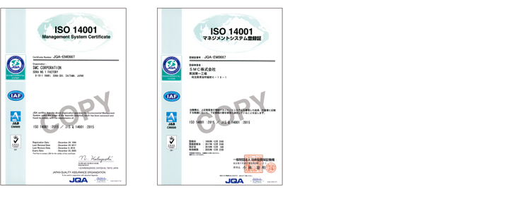 Environmental Management System・ISO14001
