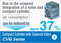 Compact Cylinder with Solenoid Valve CVQ Series