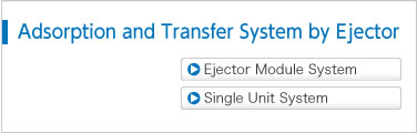 Adsorption and Transfer System by Ejector