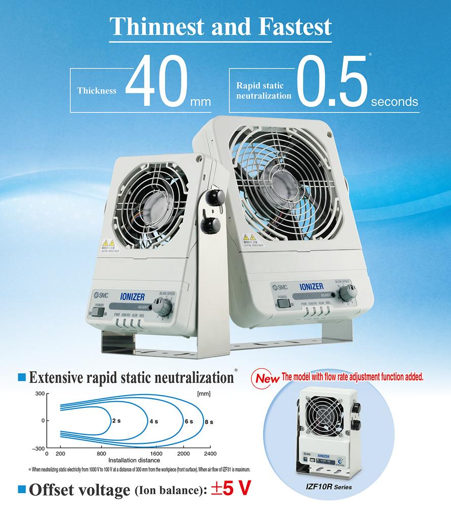 Ionizer Fan type SMC IZF Series - AZCOM
