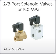 5.0 MPa 2/3 Port Solenoid Valves