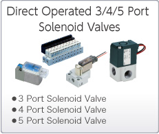 Direct Operated 3/4/5 Port Solenoid Valves