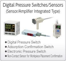 Electronic Pressure Switches/Sensors  (Sensor/Amplifier Integrated Type)