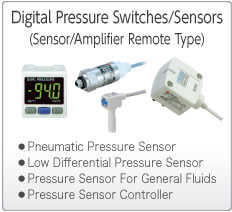 Electronic Pressure Switches/Sensors  (Sensor/Amplifier Remote Type)