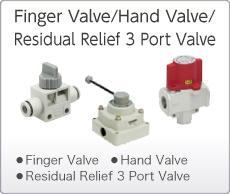 Finger Valve/Hand Valves/Residual Relief 3 Port Valve