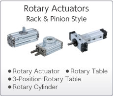 Rotary Actuators Rack & Pinion Type